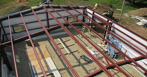 Steel Building Erection
